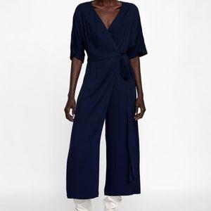 ZARA Wrap Jumpsuit Dress